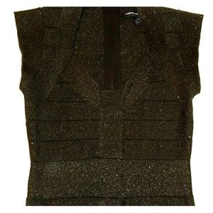 French Connection Bodycon Bandage Sparkle Dress 8